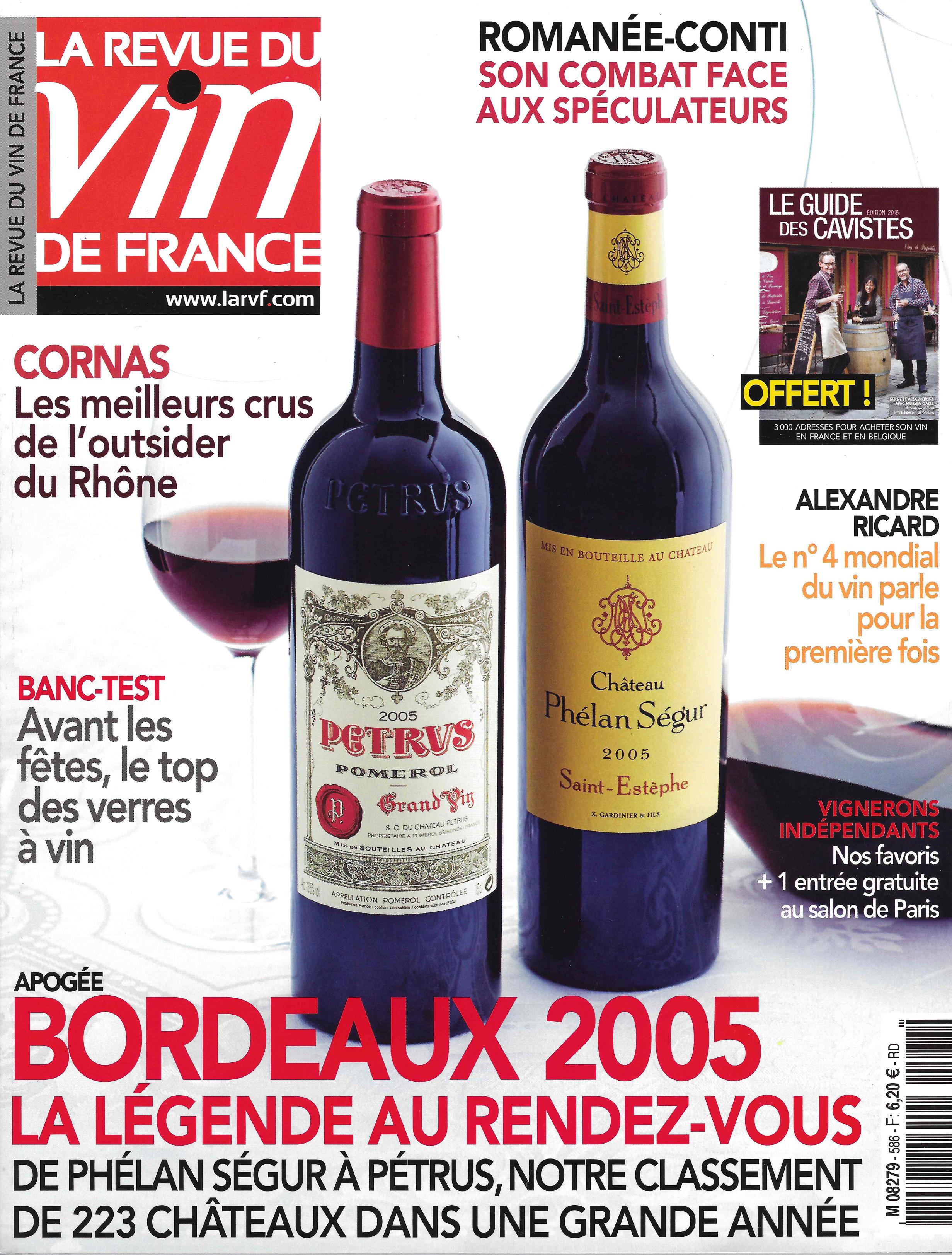 La revue du Vin de France Septembre 2014