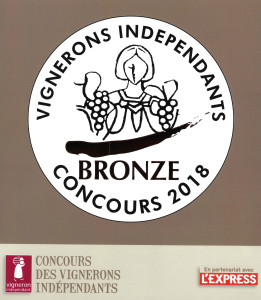 Médaille de Bronze concours vignerons indépendants 2018